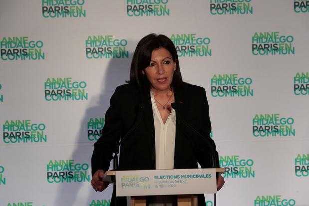 La maire socialiste sortante Anne Hidalgo en tête du premier tour à Paris