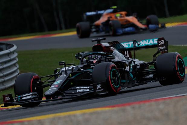 Lewis Hamilton réalise sa 93e pole et s'élancera en tête du 65e GP de Belgique