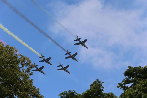 """Des F-16 """"tireront"""" pour la première fois les couleurs nationales, lors du défilé aérien du 21 juillet"""