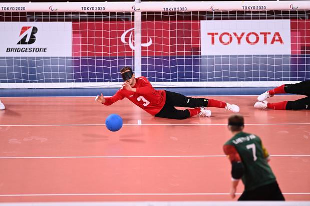Pas de médaille pour l'équipe belge de goalball éliminée en quarts de finale