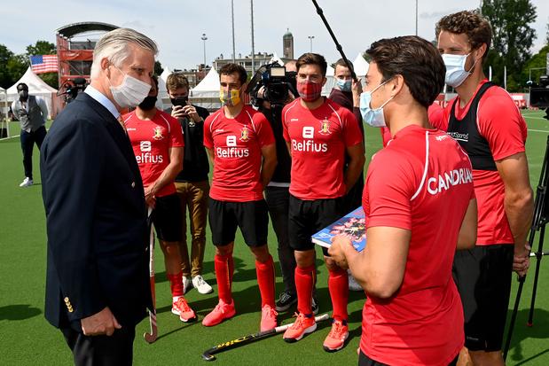 Red Lions krijgen bezoek van koning Filip voor EK hockey