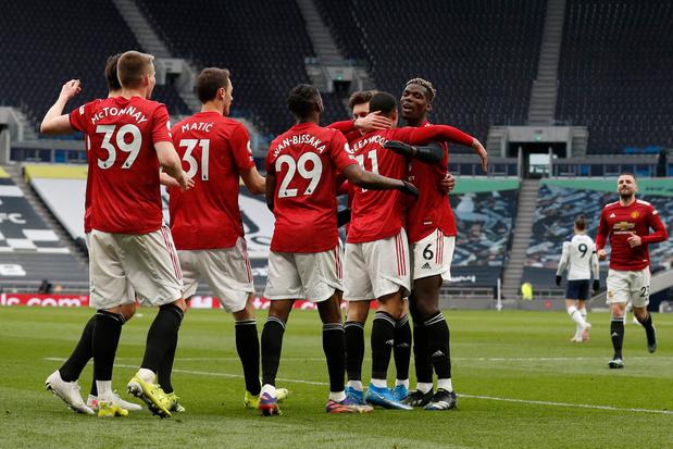 Manchester United se détache en renversant Tottenham