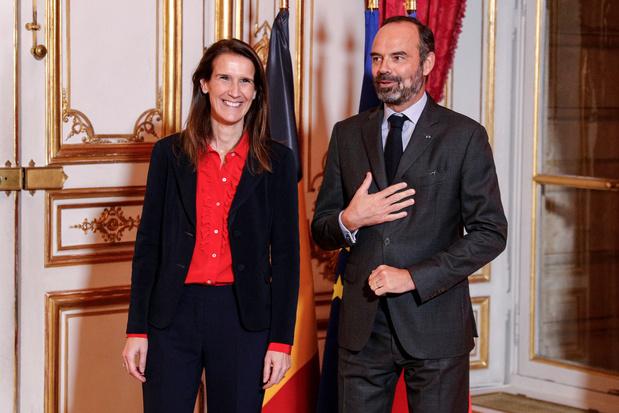 """Un premier """"entretien de travail"""" entre Sophie Wilmès et Edouard Philippe"""