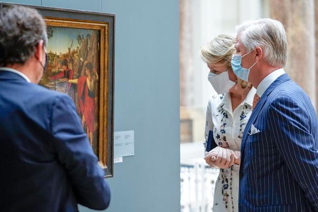 Le couple royal a visité les Musées royaux des Beaux-Arts