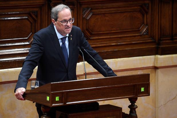 """Le gouvernement catalan réclame à Madrid des """"négociations sans conditions"""""""