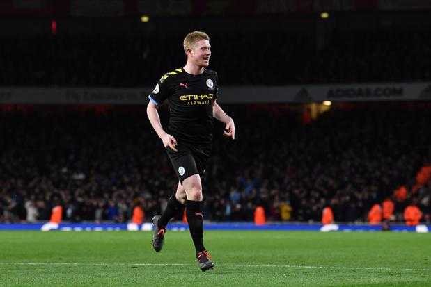 De Bruyne, deux buts et un assist, grand artisan du succès de Manchester City à Arsenal (vidéo)