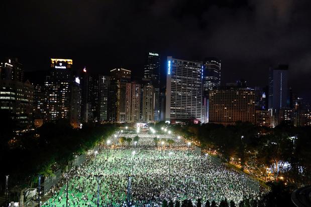 Hongkong: duizenden houden verboden herdenking Tiananmenprotest