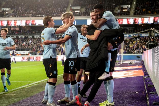Un doublé de Vanaken offre la victoire au Club de Bruges sur le terrain d'Anderlecht