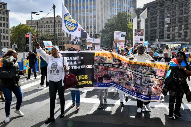 Des manifestants hostiles à Tshisekedi se font entendre à Bruxelles