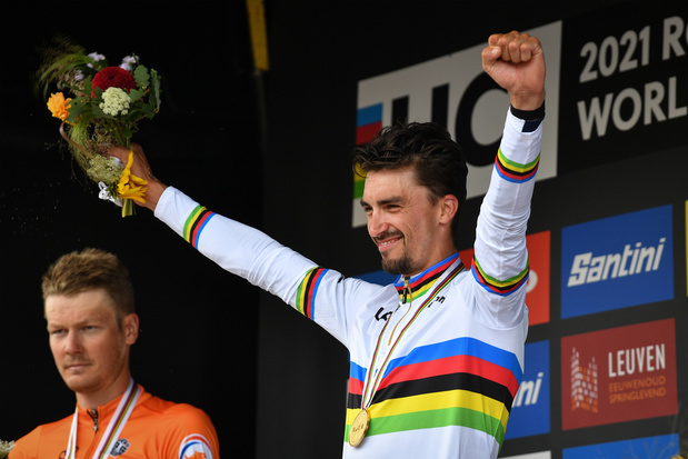 Alaphilippe verovert 2e wereldtitel op rij, Stuyven valt net naast podium