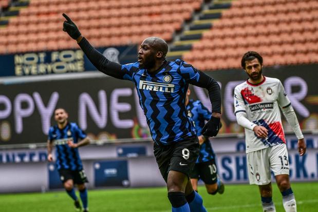 50ste goal van Lukaku brengt Inter aan kop in Serie A