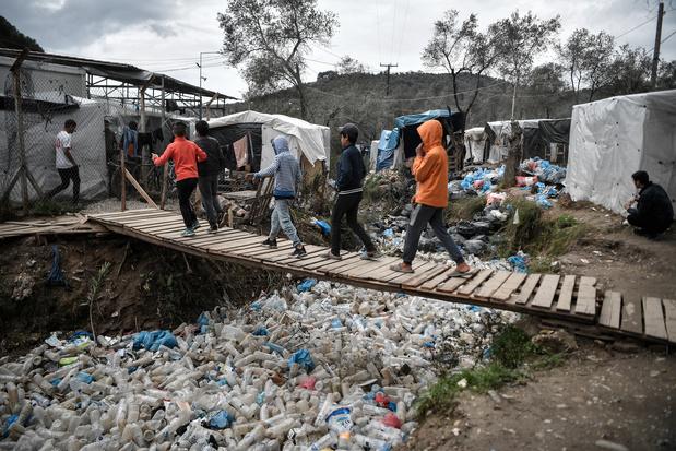 Onrust in vluchtelingenkamp Moria op Lesbos vanwege branden