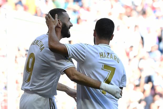 Eden Hazard inscrit son premier but avec le Real Madrid (vidéo)