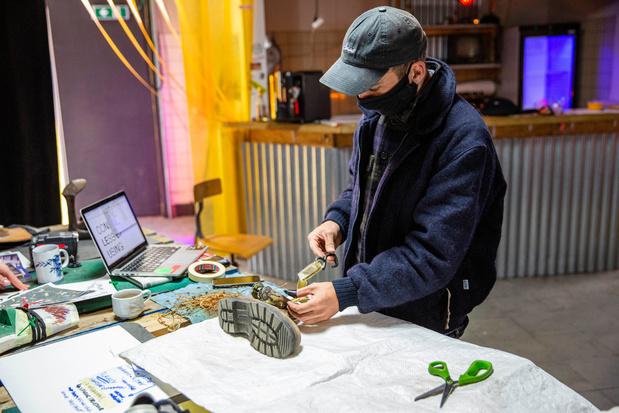 Antwerpse sneakers van lokaal recyclagemateriaal: 'Duurzaam kan ook esthetisch en creatief zijn'