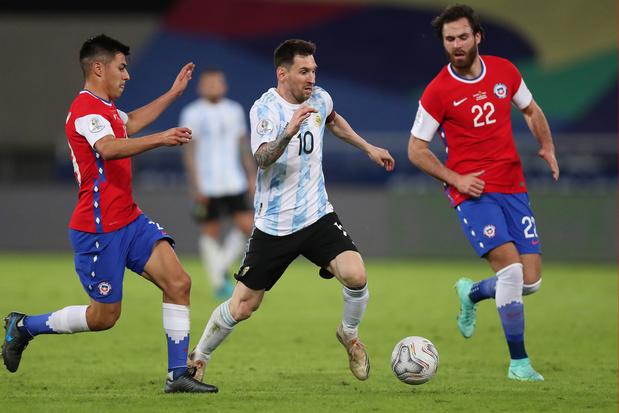 Copa América: Messi en Argentinië blijven steken op gelijkspel in eerste wedstrijd