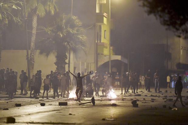 Rellen in Tunis na betoging tegen politiegeweld