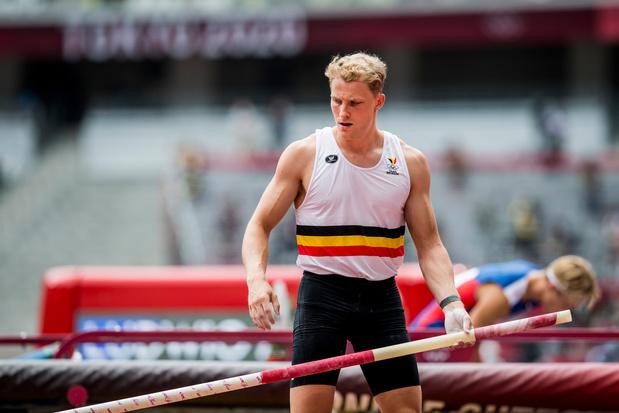 Ben Broeders améliore son record de Belgique à la perche (5m81) à Louvain