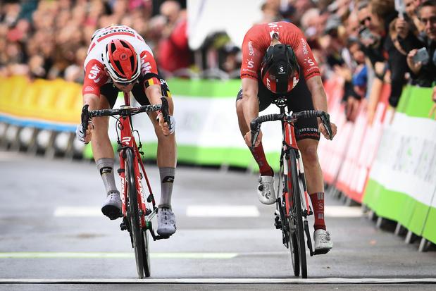 BinckBank Tour: Tim Wellens dédie sa victoire à Bjorg Lambrecht et ambitionne la victoire finale