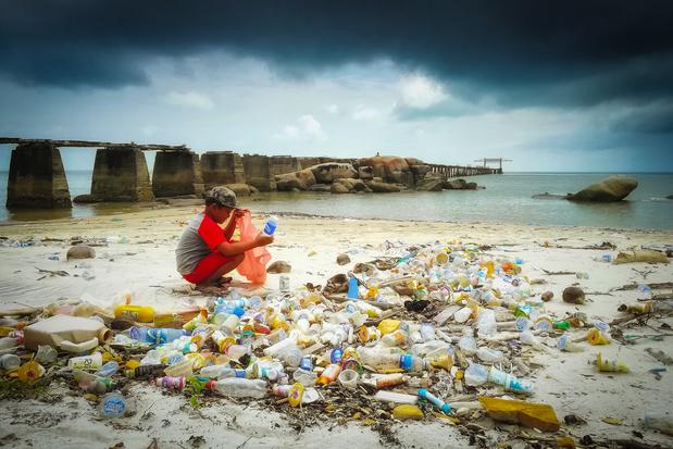 Deel van Europees voor recyclage bestemd plastic eindigt alsnog in de oceaan