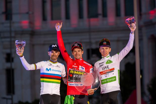 Primoz Roglic wint Vuelta, zege in slotrit voor Fabio Jakobsen