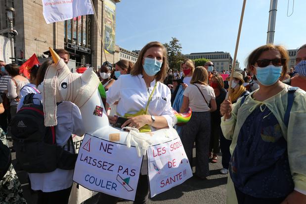Quelque 4.000 personnes manifestent pour un meilleur financement des soins de santé