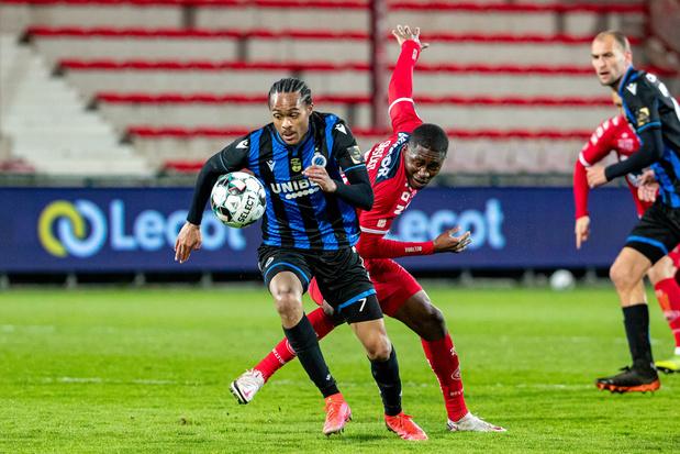 Club Brugge werkt achterstand weg en wint bij Kortrijk: 1-2