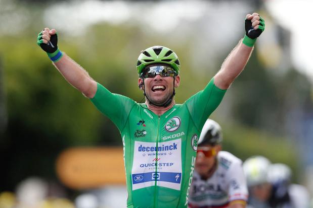 Opnieuw prijs voor Cavendish in de Tour, record Merckx komt dichterbij