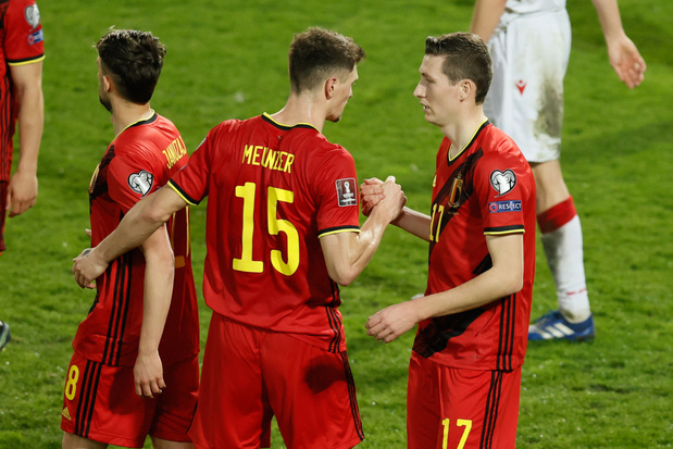 Les Diables Rouges s'imposent 8-0 contre la Biélorussie