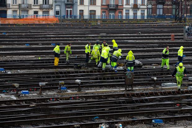 Travaux de signalisation Bruxelles-Midi: un second week-end de travaux va débuter