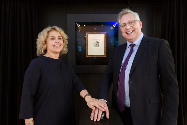 Nederlandse designeroutlet geeft een originele Rembrandt-ets weg