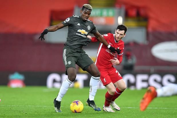 Liverpool et Manchester United se quittent sur un match nul et vierge
