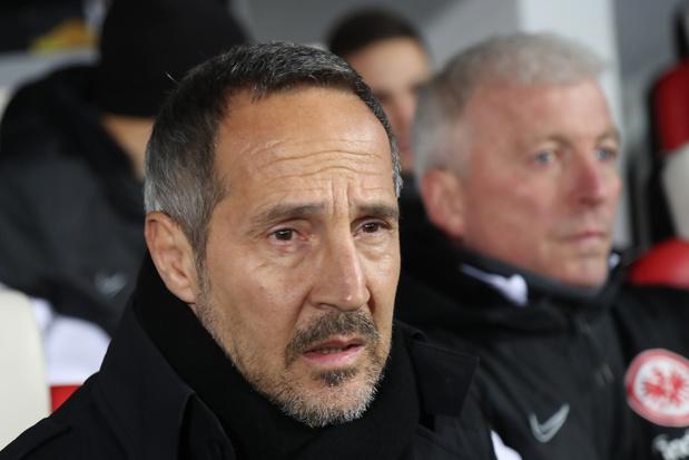 Adi Hütter, coach de Francfort, n'a jamais été aussi mécontent après un match