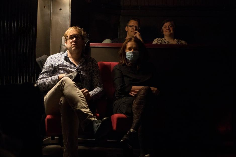 En images : Un cinéma centenaire, à l'heure des séances post-coronavirus (Vienne)