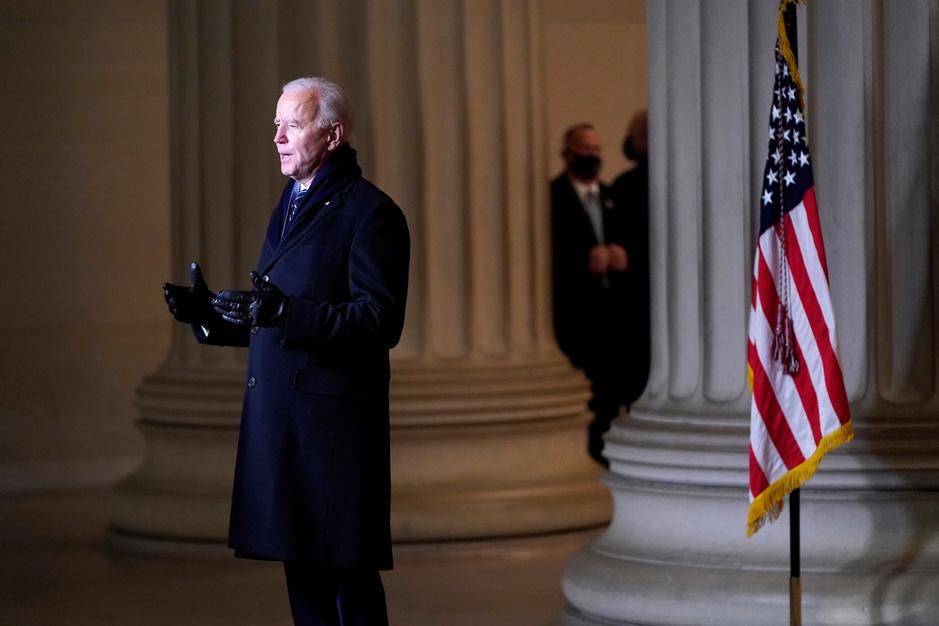 En images: la cérémonie d'investiture de Biden
