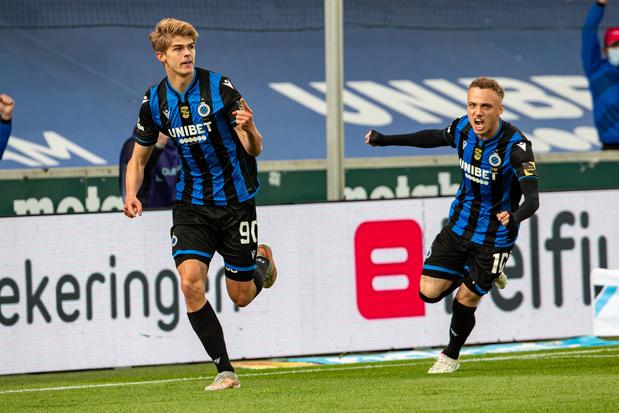 Club Brugge blijft op titelkoers met moeizame winst tegen Antwerp: 2-1