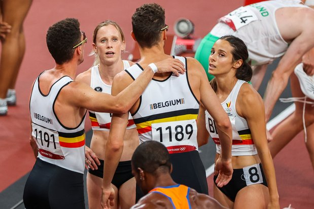 Tokyo 2020: la Belgique 5e du relais 4x400m mixte
