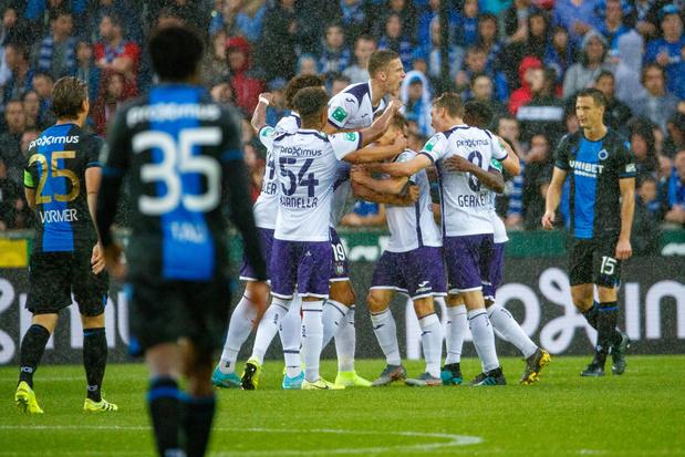 Le 'topper' Anderlecht - Bruges comme première affiche de l'année, le Standard à Malines