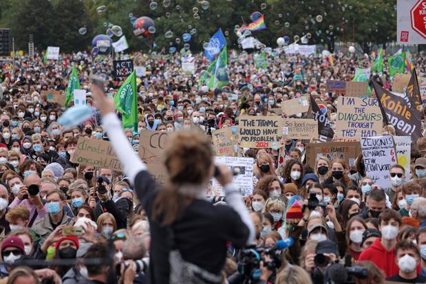 Klimaatbetogers massaal op straat in aanloop naar Duitse verkiezingen