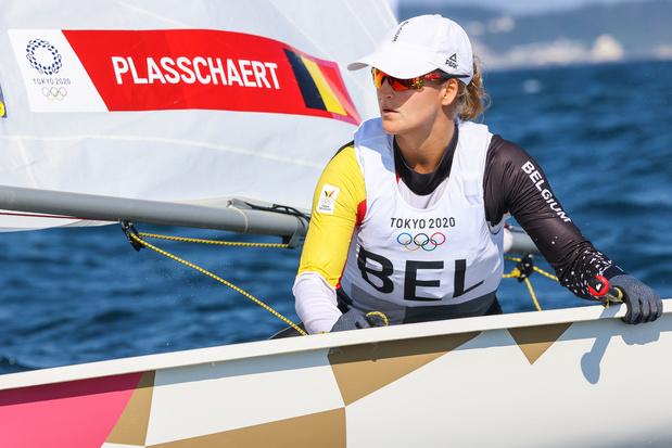 JO 2020: Emma Plasschaert termine au pied du podium en Laser Radial
