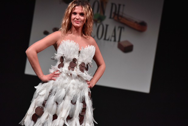 In beeld: haute couture-jurken van chocolade