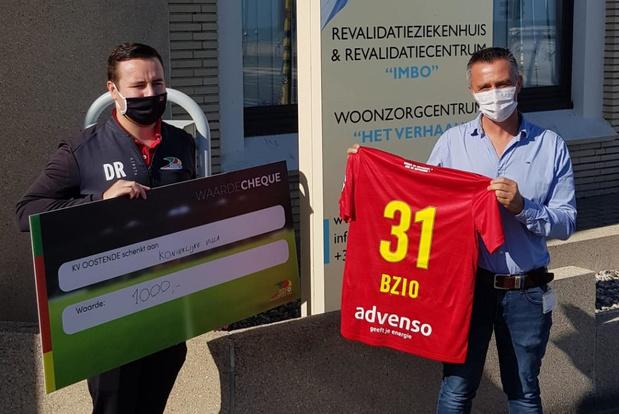 KV Oostende bezorgt patiënten van IMBO pingpongplezier