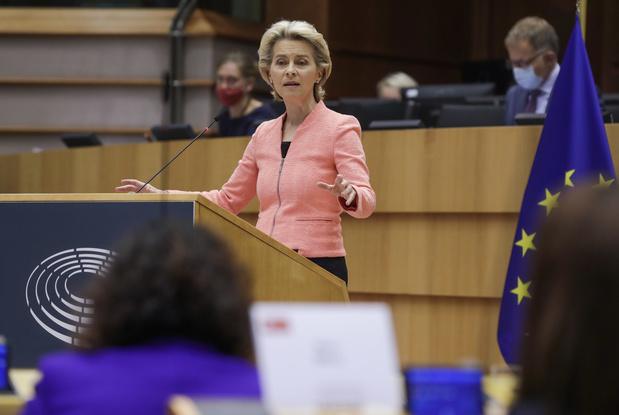 CO2, Brexit, migration, santé...: ce qu'il faut retenir du discours de l'Etat de l'Union européenne de von der Leyen