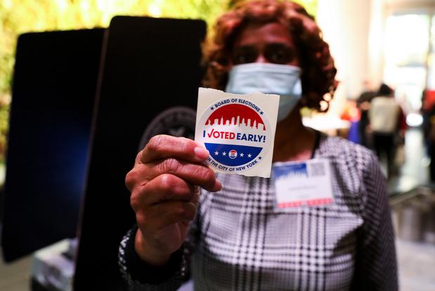 Al 59 miljoen Amerikanen hebben vervroegd gestemd, meer dan in 2016