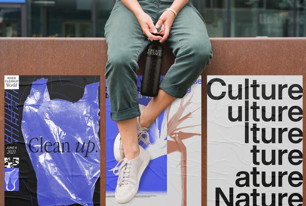 Design spreekt: Antwerp Poster Festival en Dopper verspreiden posters tegen wegwerpplastic