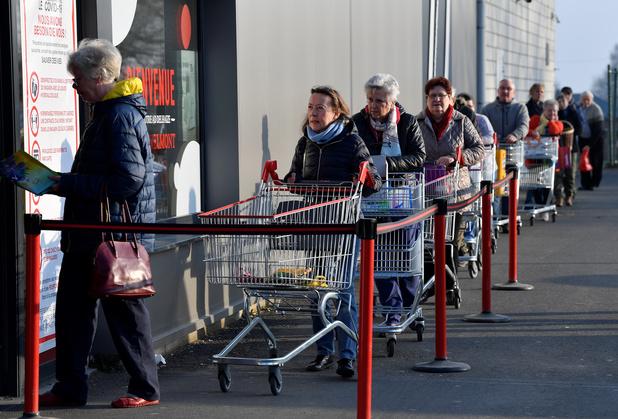 La situation dans les supermarchés semblent revenir à la norme