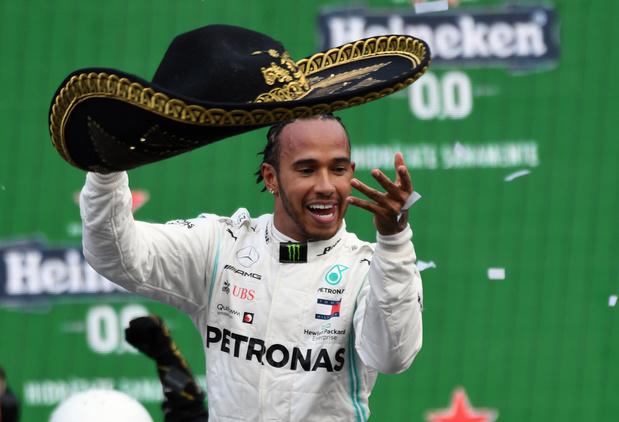 """""""Je ne m'attendais pas à gagner"""", réagit Hamilton après son succès au GP du Mexique"""