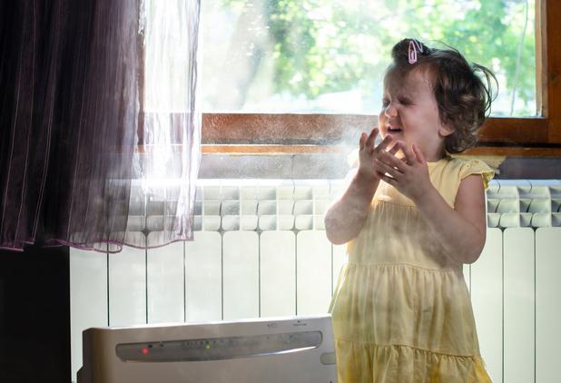 Luchtfilters in slaapkamer vergemakkelijken ademhaling bij kinderen met astma