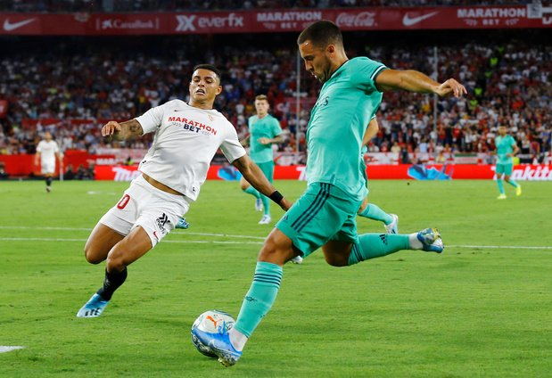 Le Real, avec Courtois et Hazard, s'impose à Séville et rejoint Bilbao à la 1ère place