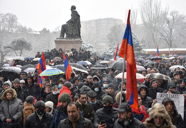 Antiregeringsprotesten in Armenië