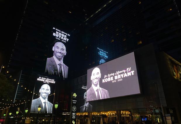 """Les légendes Michael Jordan, Magic Johnson et LeBron James rendent hommage à """"Kobe"""""""